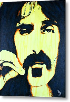 Metal Print featuring the painting Frank Zappa Pop Art by Bob Baker