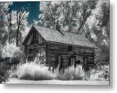 Frankenmuth Cabin Metal Print by Jeff Holbrook