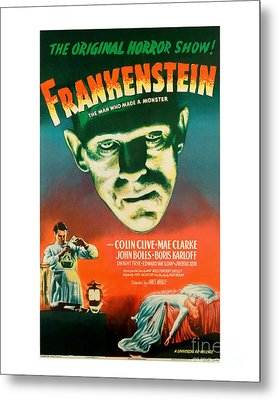 Frankenstein Movie Poster Metal Print by MMG Archive Prints