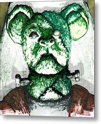 Frankenstein's Koala Metal Print by Del Gaizo