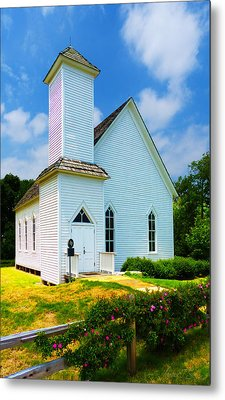 Frankford Church In Spring Metal Print by Robert J Sadler
