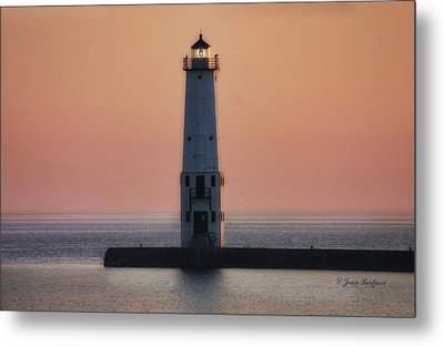Metal Print featuring the photograph Frankfort Lighthouse II by Joan Bertucci