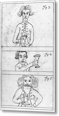 Franklin Drinking Metal Print by Granger