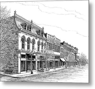 Franklin Main Street Metal Print