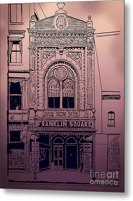 Franklin Square Theatre Metal Print by Megan Dirsa-DuBois