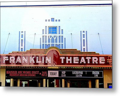 Franklin Theatre Metal Print by Anthony Jones