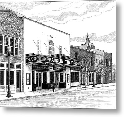 Franklin Theatre In Franklin Tn Metal Print by Janet King