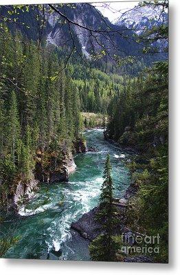 Fraser River - British Columbia Metal Print by Phil Banks