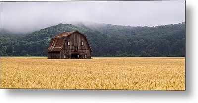 Metal Print featuring the photograph Frechman Barn - Summer by Wayne Meyer