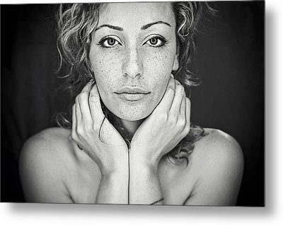 Freckles Metal Print by Oren Hayman
