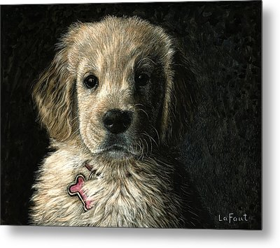Metal Print featuring the drawing Freckles by Sandra LaFaut