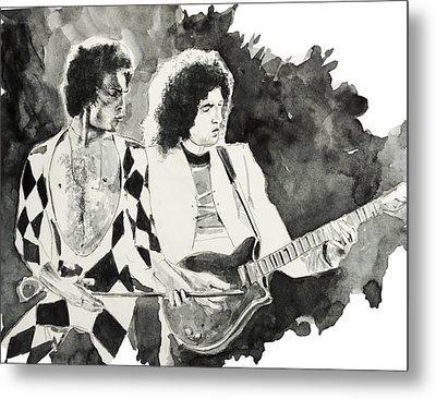 Freddie And Brian May Metal Print by Bekim Art