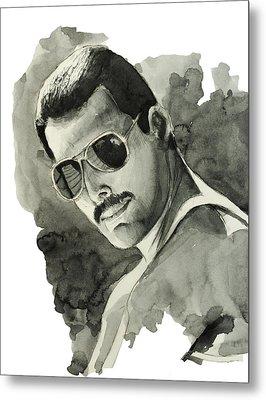 Freddie Mercury 5 Metal Print by Bekim Art