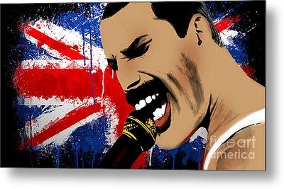 Freddie Mercury Metal Print by Mark Ashkenazi
