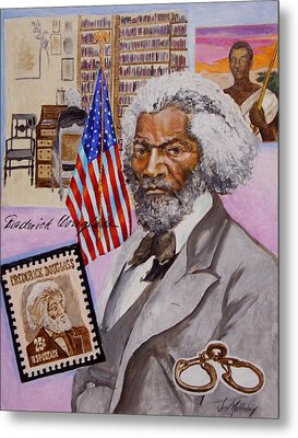 Frederick Douglass Metal Print by Jan Mecklenburg