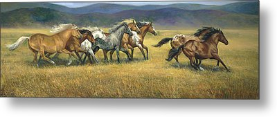 Free And Wild Metal Print by Laurie Hein