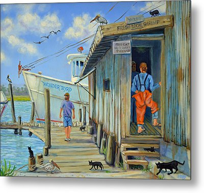 Metal Print featuring the painting Free Cats Ll by Dwain Ray