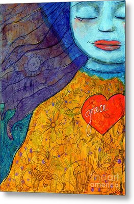 Free Your Mind And Grace Will Follow Metal Print