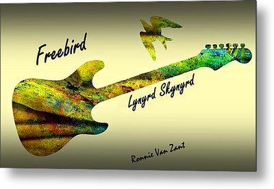 Freebird Lynyrd Skynyrd Ronnie Van Zant Metal Print by David Dehner