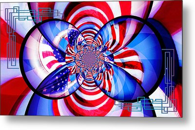 Freedom Abstract  Metal Print