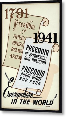 Freedom Everywhere In The World Metal Print by Daniel Hagerman