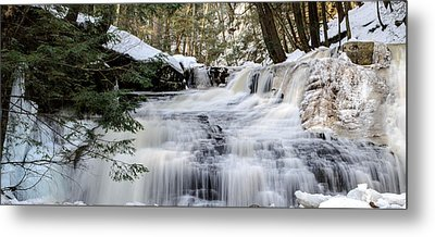 Freedom Falls Winter Metal Print by Anthony Thomas