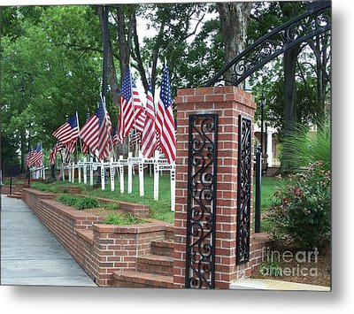 Freedom Is Not Free Metal Print by Marilyn Zalatan