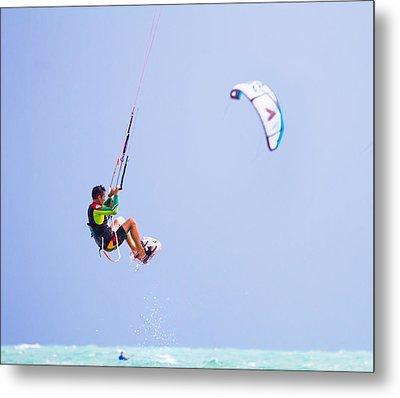 Freedom  Miami Beach Kitesurfing Metal Print