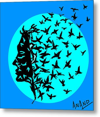 Freedom Of Thought Metal Print by Anand Swaroop Manchiraju