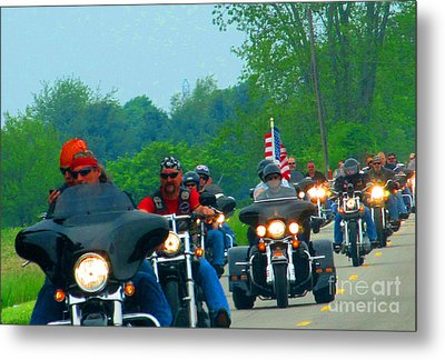 Freedom Riders Having So Much Fun Metal Print by Tina M Wenger
