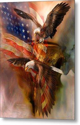 Freedom Ridge Metal Print by Carol Cavalaris