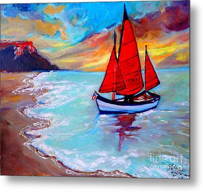 Freedom Sails Metal Print