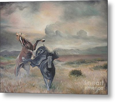 Metal Print featuring the painting Freedom by Sorin Apostolescu