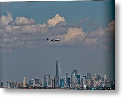 Freedom Tower Fly By Metal Print by Douglas Adams
