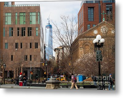 Freedom Tower From Washington Square Metal Print by Thomas Marchessault