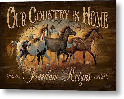 Freedon Reigns Metal Print by JQ Licensing