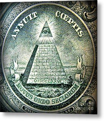 Freemason Symbol And Quote Metal Print by Renee Trenholm