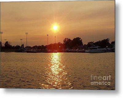 Metal Print featuring the photograph Freeport Summer Sunset by John Telfer