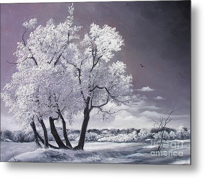 Metal Print featuring the painting Freeze by Sorin Apostolescu