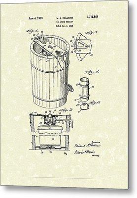 Freezer 1929 Patent Art Metal Print