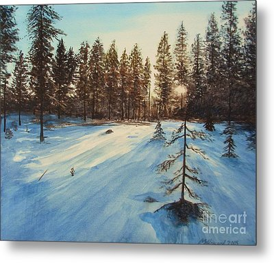 Freezing Forest Metal Print by Martin Howard