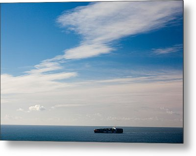 Freighter In The Sea, Point Bonita Metal Print