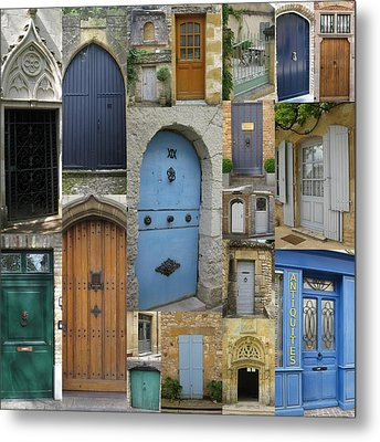 French And Belgian Doors Metal Print by Cathy Jacobs