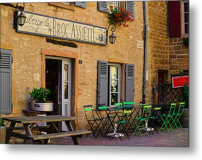 French Auberge Metal Print by Dany Lison