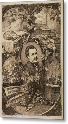 French Author Edmond Duranty Metal Print