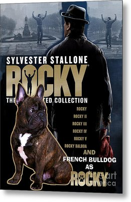 French Bulldog Art - Rocky Movie Poster Metal Print
