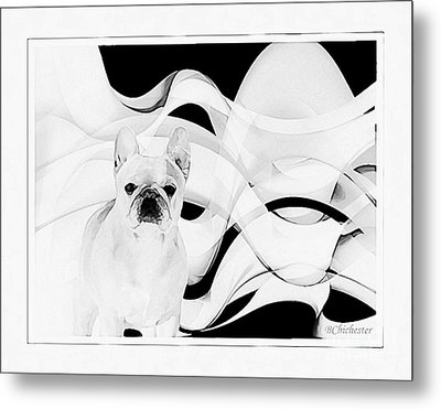 Metal Print featuring the painting French Bulldog by Barbara Chichester