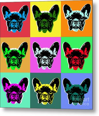 French Bulldog Metal Print by Jean luc Comperat