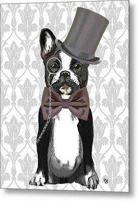 French Bulldog Monsieur Bulldog Metal Print by Kelly McLaughlan