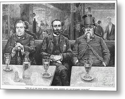 French CafÉ, 19th Century Metal Print by Granger